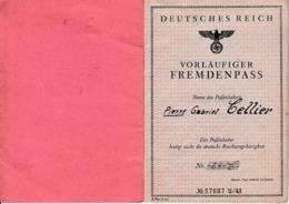 1944 - PASSEPORT Pour Un Français Travailleur Libre En ALLEMAGNE - Documents Historiques