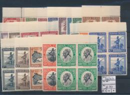 RUANDA URUNDI COB 126/147 BLOCKS OF 4 MNH - 1924-44: Neufs