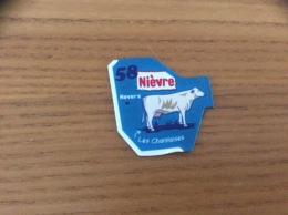 """Magnet Département Le Gaulois """"58 Nièvre"""" (Les Charolaises) Bleu (vache) - Magnets"""