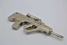 Vintage TOY GUN: ISREL MTAR - L=13.5cm - Keychain 1990s-00s - Keywords: Cap - Cork Gun - Rifle - Revolver - Pistol - Tin - Decotatieve Wapens