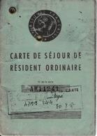1957 - CARTE DE SÉJOUR De RÉSIDENT ORDINAIRE Pour Un LUXEMBOURGEOIS - Documentos Históricos
