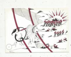 Cp,ASTROLOGIE,série Zodiaque,puzzle Composé De 12 Cartes,  N° 5, LION ,illustrateur Yvan Mauger , Dédicacée,1986 - Astrology