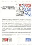 DOCUMENT FDC 1987 ENTREE EN GUERRE DES USA PERSHING - Documents De La Poste