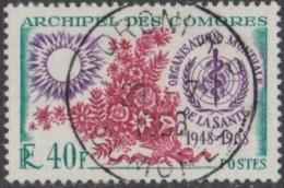 Comores (Archipel Des) - N° 46 (YT) N° 46 (AM) Oblitéré De Moroni RP. - Comoro Islands (1950-1975)
