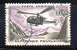 France / Poste Aérienne /  N 37  / 1000 Francs Olive /  Oblitéré  / Côte 27 € - 1927-1959 Gebraucht