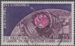 Comores (Archipel Des) - Poste Aérienne N° 07 (YT) N° 7 (AM) Oblitéré De D'Zaoudzi. - Comoro Islands (1950-1975)