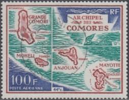 Comores (Archipel Des) - Poste Aérienne N° 36 (YT) N° 36 (AM) Oblitéré De Moroni RP. - Comoro Islands (1950-1975)
