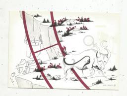Cp,ASTROLOGIE,série Zodiaque,puzzle Composé De 12 Cartes,  N° 2, TAUREAU ,illustrateur Yvan Mauger , Dédicacée,1986 - Astrology