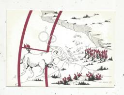 Cp,ASTROLOGIE,série Zodiaque,puzzle Composé De 12 Cartes,  N° 1, BELIER ,illustrateur Yvan Mauger , Dédicacée,1986 - Astrology