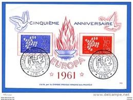Am218 Jumelage Philatélique Européen Lens La Louviere 16-17-09-1961 / Carton Illustré - Postmark Collection (Covers)