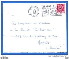Am253 Secap GER109 Gerardmer Perle Des Vosges FD / Lettre Du 27/12/56 Gerardmer Vosges - Storia Postale