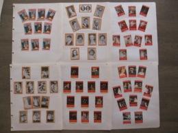 70 étiquettes De Boites D'allumettes Royauté Famille Royale Belgique Roi Reine Léopold Albert Baudouin Safety Match - Matchbox Labels