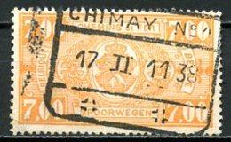 BE   TR159    Obl   ---   Cachet : Chimay - Bahnwesen