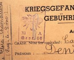 CP De Chamalières Puy-de-Dôme > Prisonnier De Guerre OFLAG XI A Osterode Censure Illustrée ABEILLE Janvier 1941 - WW II