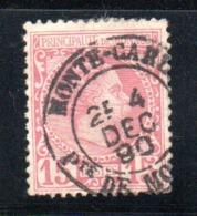 Monaco  /  N 5   / 15 Cents Rose  /  Oblitéré  2nd Choix - Monaco