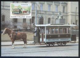 Finlandia. Tarjeta Máxima Nº 9. *Europa 1988* Matasellos Helsinki. - Maximum Cards & Covers