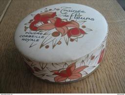 Jolie Et Ancienne Boîte à Poudre - TRAINEE DE FLEURS De CORBEILLE ROYALE - Accessories