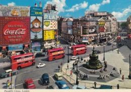 Postcard Advertising Piccadilly Circus Coca Cola Guinness Bea BMC Mini Skol VC10 Beatles Etc My Ref  B23817 - Advertising