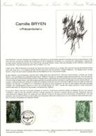 DOCUMENT FDC 1987 PEINTURE DE CAMILLE BRYEN - Documents De La Poste