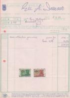 1951: Factuur Van ## Ets. A. DEMOOR, Meibloemstraat, 18-20, GENT ##  Aan ## Mr. VAN AUTRYVE, Tuinstraat, 23, GENT ## - Imprenta & Papelería