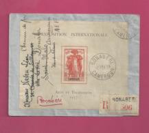 Lettre Recommandée De 1939 Pour Les EUAN - YT N° BF1 - RR Sur Lettre - Exposition Internationale Arts Eet Techniques - Cartas