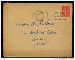 Am5229 Aube 10 FLIER TRO242 Troyes La Ville De La Bonnetterie /lettre 05/01/30 - Postmark Collection (Covers)