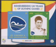 Olympics 2016 - Swimming - ST. VINCENT - S/S MNH - Summer 2016: Rio De Janeiro