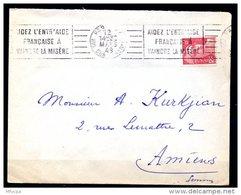 Am5334 OMEC RBV A20406 Paris XX Aidez L'entraide Française à Vaincre La Misère / Gandon 6f Rouge - Marcophilie (Lettres)