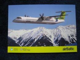 Air Baltic Dash 8, Airline Issued Card - 1946-....: Modern Tijdperk