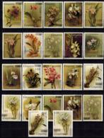 MBP-BK2-169-2 MINT ¤ GUYANA 22w MINT OUT OF SET- MINT - OVERPRINT ¤ FLOWERS OF THE WORLD - ORCHIDEE - FLEURS BLÜMEN - Orchids