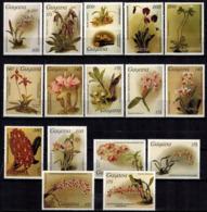 MBP-BK2-167-2 MINT ¤ GUYANA 17w MINT OUT OF SET- MINT - ¤ FLOWERS OF THE WORLD - ORCHIDEE - FLEURS BLÜMEN - Orchidées
