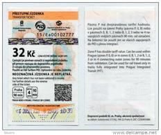 Used Czech Ticket For Bus And/or Metro - Prague - Available 90 Minutes And In 4 Zones - Subway