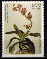 MBP-BK2-182-3 MINT ¤ GUYANA 1w MINT OUT OF SET- MINT - ¤ FLOWERS OF THE WORLD - ORCHIDEE - FLEURS BLÜMEN - Orchids