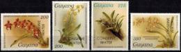 MBP-BK2-183-3 MINT ¤ GUYANA 4w MINT OUT OF SET- MINT - OVERPRINT ¤ FLOWERS OF THE WORLD - ORCHIDEE - FLEURS BLÜMEN - Orchids