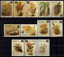 MBP-BK2-184-3 MINT ¤ GUYANA 12w MINT OUT OF SET- MINT - OVERPRINT ¤ FLOWERS OF THE WORLD - ORCHIDEE - FLEURS BLÜMEN - Orchideeën