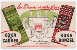 - BUVARD CHICORÉES KOKA DES CARMES - KOKA BONZEL - Les 2 Amies De Votre Foyer - - Koffie En Thee
