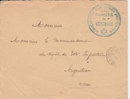 """Chaumont - Cachet  """"association Des Dames Françaises """" Sur Lettre - Scan Recto-verso - WW I"""