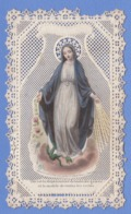 9AL1750 CANIVET IMAGE PIEUSE ANCIENNE Dentelles HOLY CARDS O MARIE VIERGE PURE - Andachtsbilder