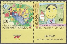 Bosna I Hercegovina Sprska 2006 Europa CEPT L'intégration Timbres Issus Du Carnet Neuf ** - Bosnie-Herzegovine