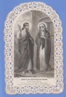 9AL1748 CANIVET IMAGE PIEUSE ANCIENNE Dentelles HOLY CARDS ADIEUX DE JESUS MARIE - Imágenes Religiosas