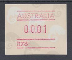 Australien Frama-ATM Ringelschwanz-Opossum, Mit Automatennummer B76 ** - Vignette Di Affrancatura (ATM/Frama)