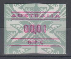 Australien Frama-ATM Emu Grün Ausgabe NPC (National Philatelic Centre) **  - Vignette Di Affrancatura (ATM/Frama)