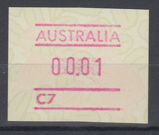 Australien Frama-ATM Waratah-Blume Mit Automatennummer C7 ** - Vignette Di Affrancatura (ATM/Frama)