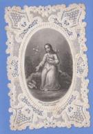 9AL1749 CANIVET IMAGE PIEUSE ANCIENNE Dentelles HOLY CARDS JESUS CREATEUR - Images Religieuses