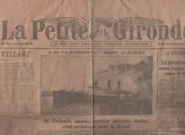 LA PETITE GIRONDE 03 10 1920 - PAQUEBOT LUTETIA - IRLANDE SINN-FEIN - AMBULANCE JAPON - POLOGNE RUSSIE - BRUXELLES - - General Issues