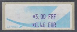 Frankreich LISA-ATM Auf Papier Komet Wert Violett 3,00 FRF / 0,46 EUR ** - Vignettes D'affranchissement