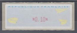 Frankreich LISA-ATM Auf Papier Papierflieger, Wert Rot 0,10 ** - Vignettes D'affranchissement