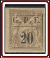 Guadeloupe 1876-1903 - N° 01 (YT) N° 1 (AM) Neuf *. - Guadalupe (1884-1947)