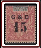 Guadeloupe 1876-1903 - N° 47f (YT) N° 47 Ic (AM) Neuf *. Une Dent D'angle Abimée. - Guadalupe (1884-1947)