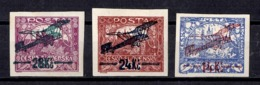 Tchécoslovaquie Poste Aérienne YT N° 1/3 Neufs *. Signés. B/TB. A Saisir! - Neufs